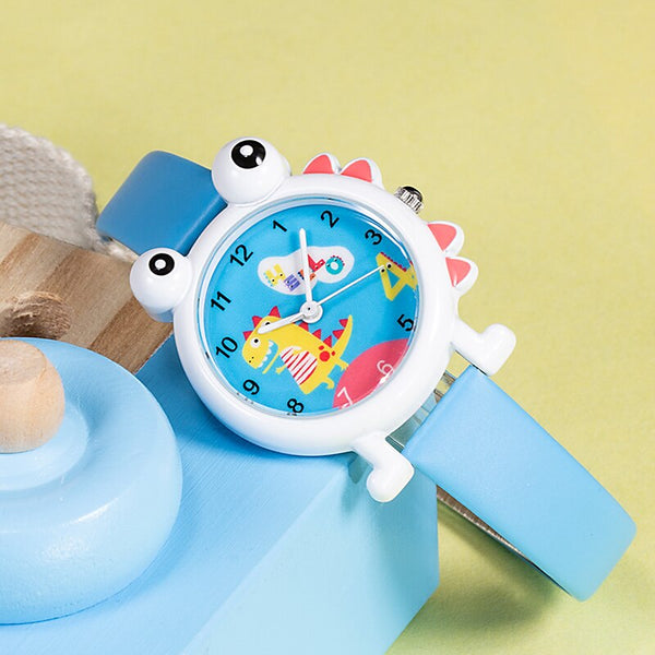 KDM Genuine Leather Kid Wristwatch Lovely Cartoon Dinosaur Children Watch Cute Kids Boys Waterproof Watches Students Clock