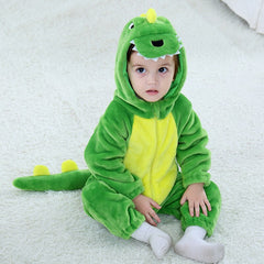 2019 Spring Children's Garment Dinosaur Hooded Baby Boy Girl Newborn Clothes Cosplay Anime carnaval costumes For Kids onesie