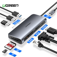 Ugreen USB HUB C HUB to Multi USB 3.0 HDMI Adapter Dock for MacBook Pro Accessories USB-C Type C 3.1 Splitter 3 Port USB C HUB
