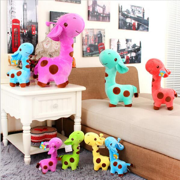 New 18 x 7 cm Cute Plush Giraffe Soft Toys Animal Dear Doll Baby Kids Children Birthday Gift 1pcs Free Shipping