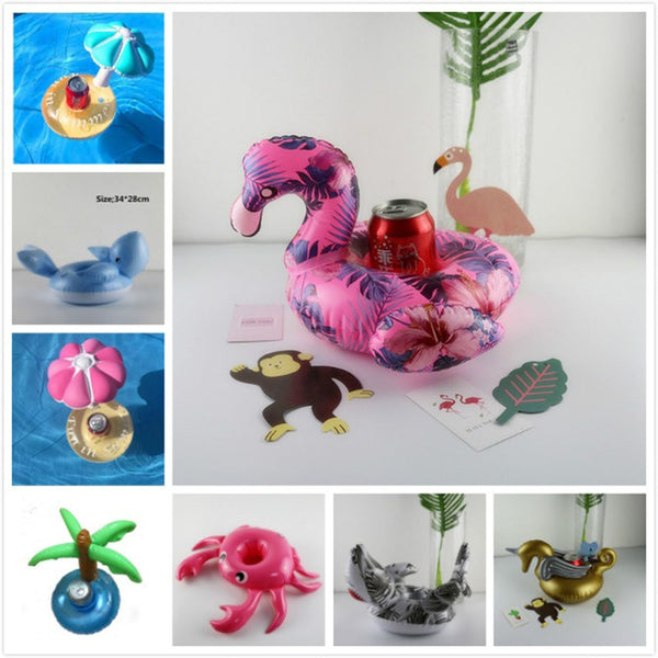 diamond ring Floating Flamingo Cup Holder Pool Swim Ring Water Toys Party Boats Baby Pool Toys Inflatable Unicorn Drink Holders