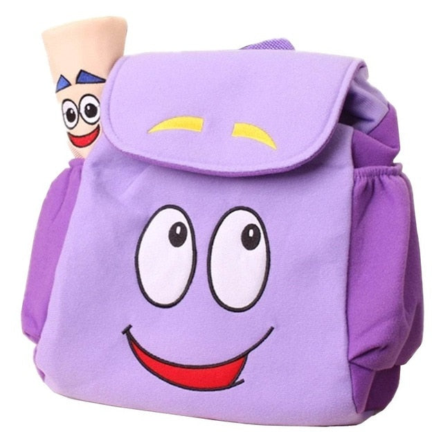 Alknow Dora Explorer Backpack Rescue Bag with Map,Pre-Kindergarten Toys Purple