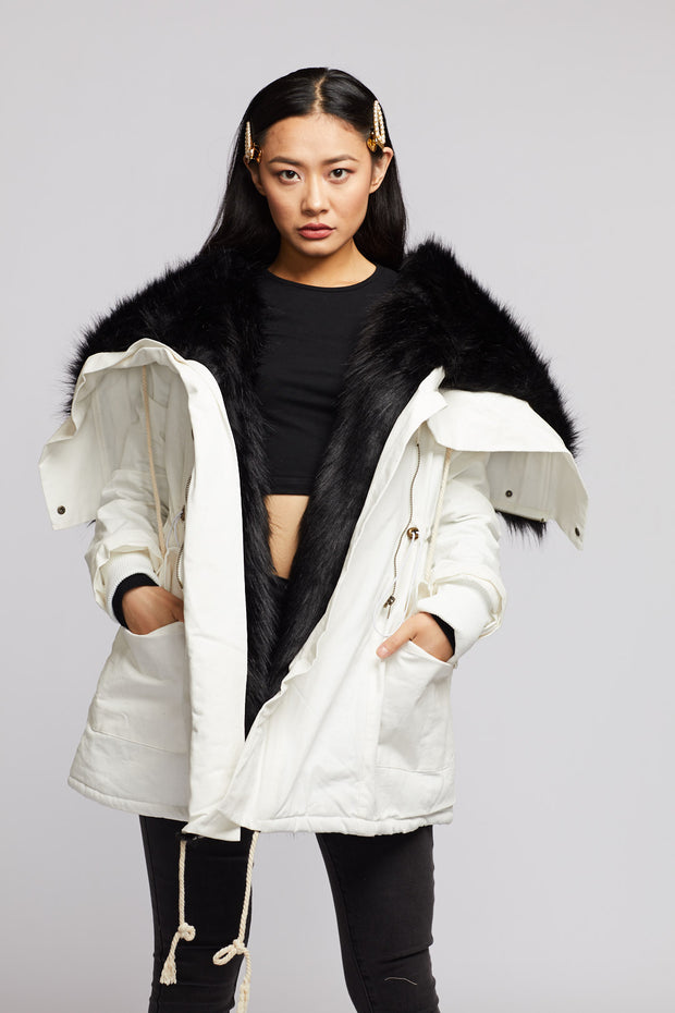 Super Faux Fur Lining Jacket - Berness