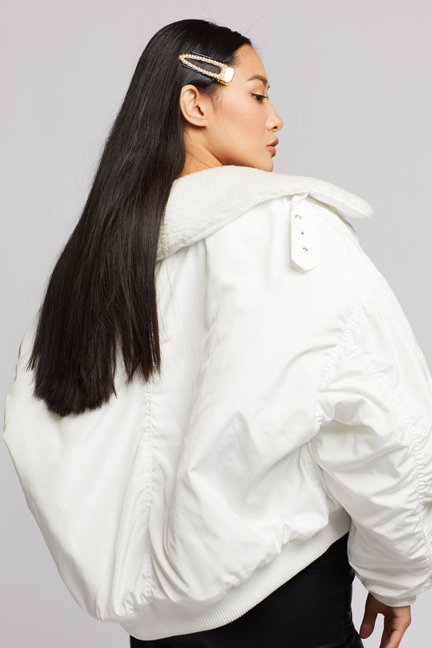 Oversized Bomber Jacket - Berness