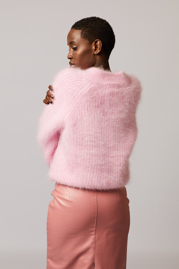 Pink Mohair Sweater - Berness