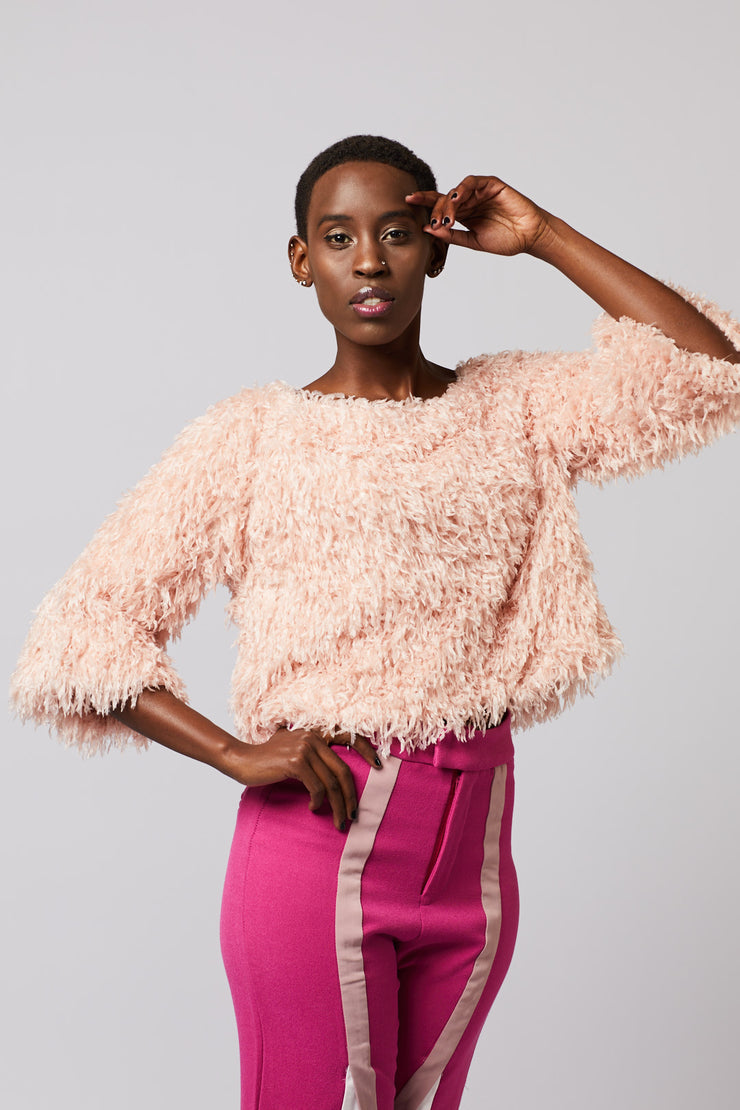 Sassy Fringe Sweater Top - Berness