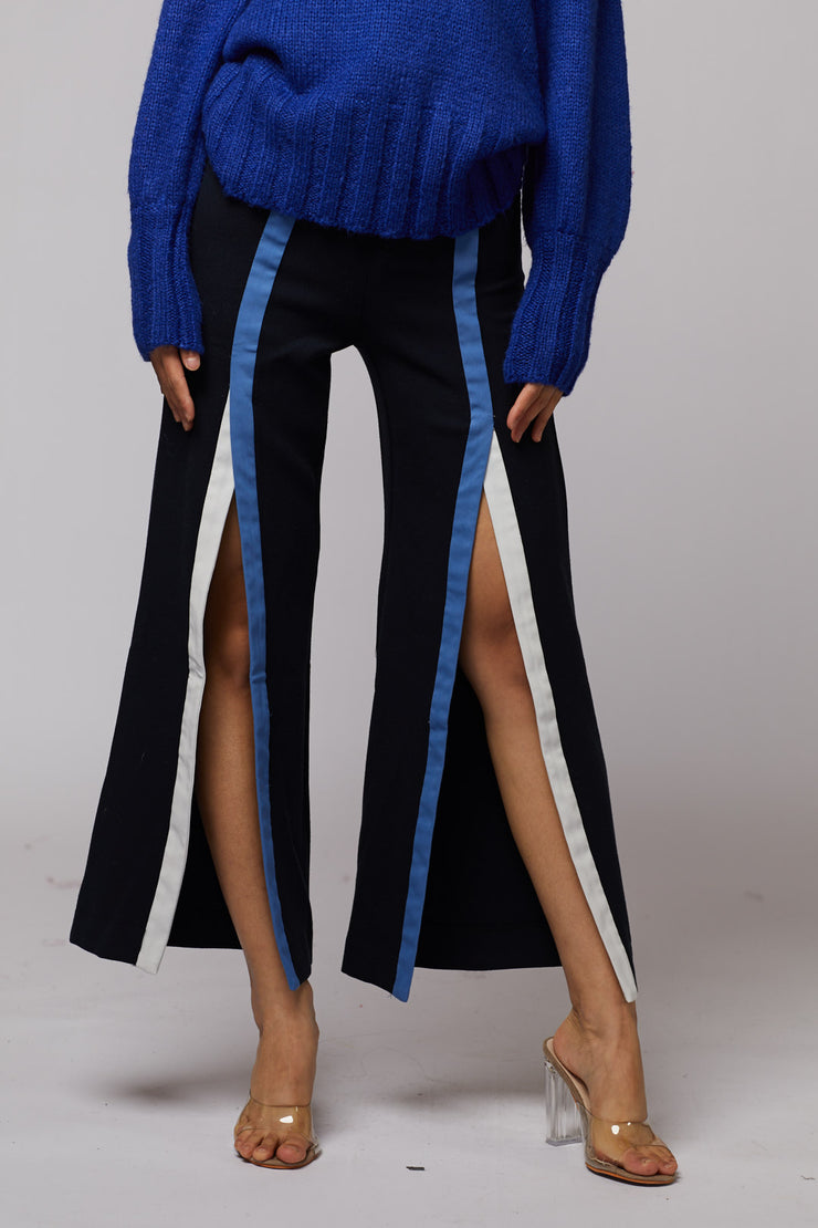 Front Side Slit Trousers - Berness