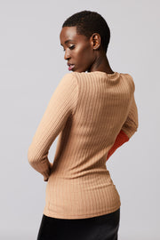 Ribbed Side Slit Top - Berness