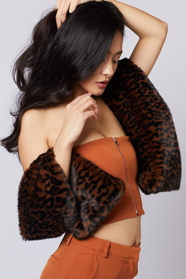 Leopard Faux Fur Collar - Berness