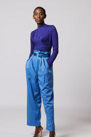 Blue Paperbag Trousers - Berness