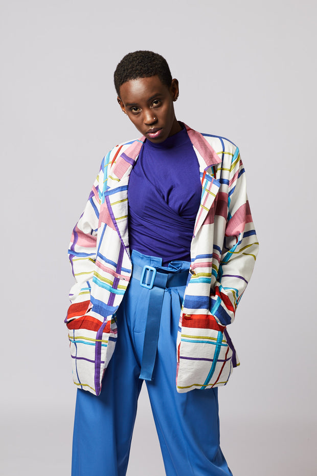 MultiColor All Over Print Blazer - Berness