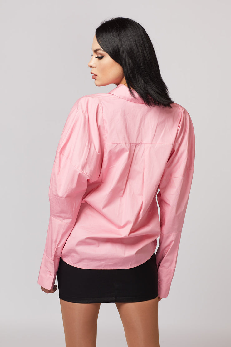 Pink Oversized Top - Berness
