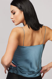 Satin Cowl Neck Cami - Berness