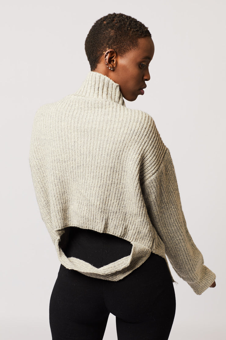 Knit Back Detail Sweater - Berness