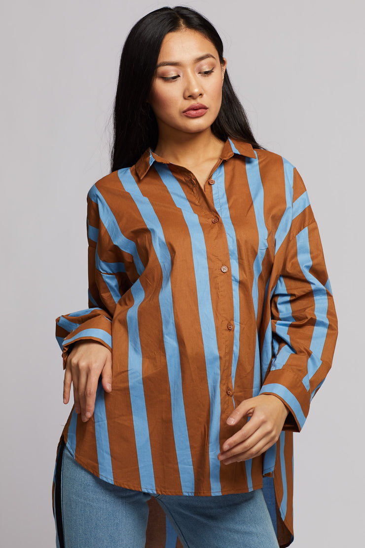 Blue Stripe Shirt - Berness