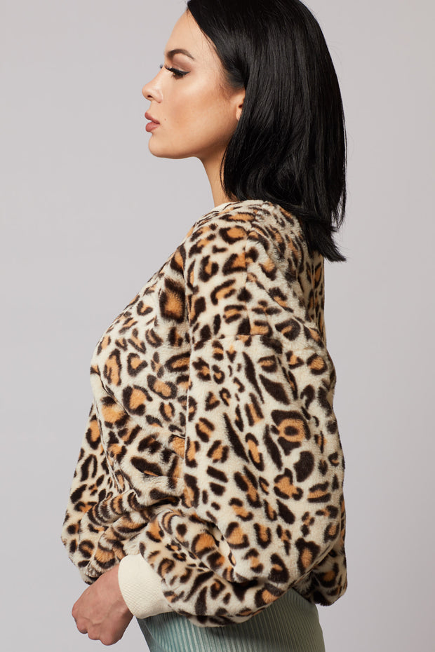 Leopard Fur Sweater - Berness