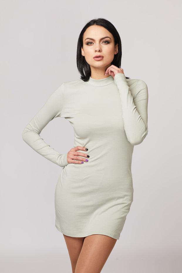 Basic High Neck Dress - Berness