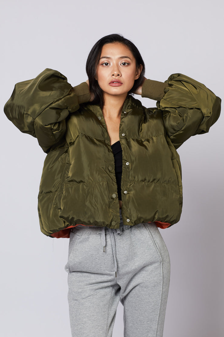 Bomber Puff Sleeve Jacket - Berness