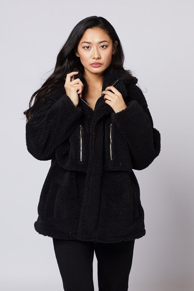 Borg Pocket Front Coat - Berness