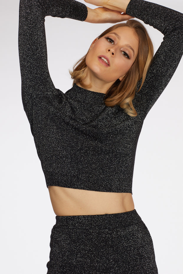 Glitter Cropped Co-Ord Set - Berness