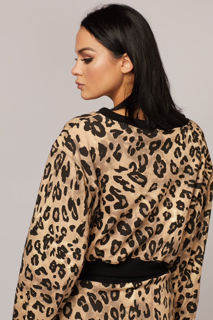 Leopard Two Piece Sweater Set - Berness