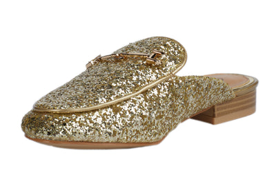 Gold Glitter Loafers - Berness