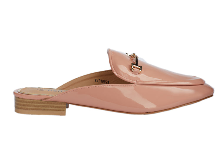 Pink Vinyl Loafers - Berness