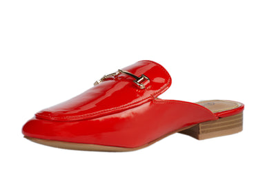 Red Vinyl Loafers - Berness