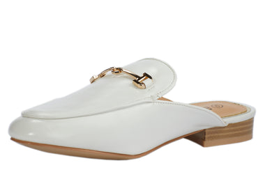 White Faux Leather Loafers - Berness