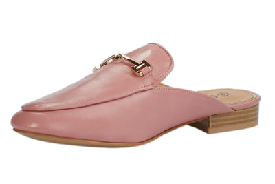 Pink Faux Leather Loafers - Berness