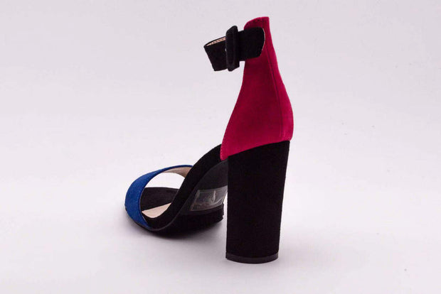 Fusia Duel Color Block Heel - Berness