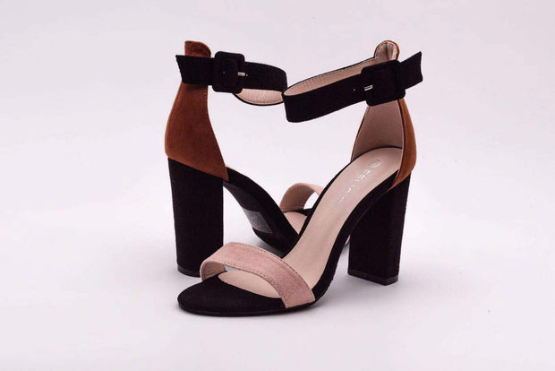 Brown Duel Color Block Heel - Berness