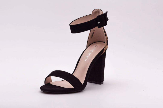 Leopard Duel Color Block Heel - Berness