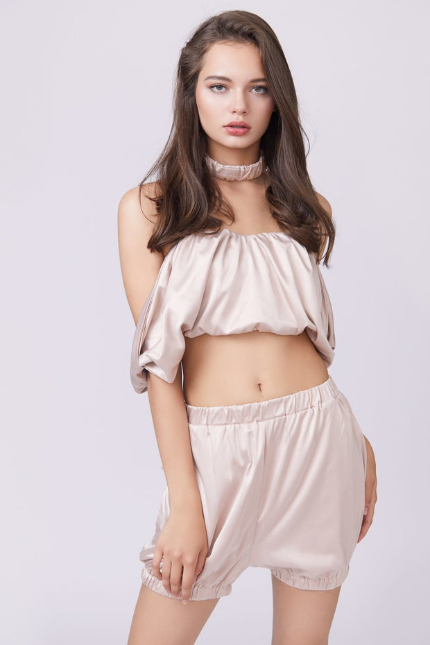 Off Shoulder Flounce Two-Piece Set - Berness