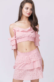 Ruffle Bandeau Two-Piece Set
