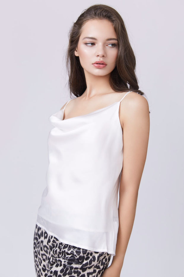 Cross Back Cowl Neck Cami - Berness