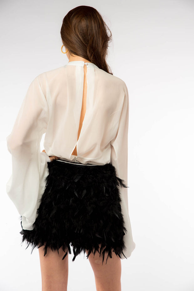 Feather Mini Skirt - Berness