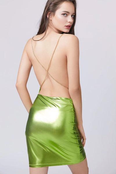 Back Chain Party Dress - Berness