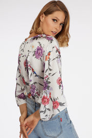 Flare Sleeve Floral Body Suit - Berness