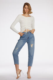 Relaxed Fit Mid Wash Jeans - Berness