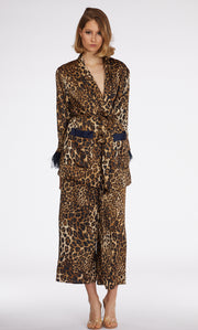 Leopard Feather Details Blazer - Berness