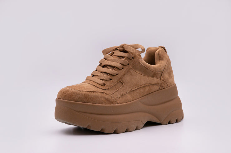 Chunky Tan Suede Sneaker - Berness
