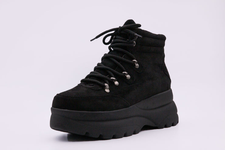 Black Suede Boots - Berness
