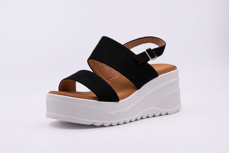 Black Ankle Strap Sandals - Berness