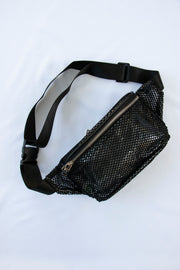 Black Fishnet Fanny Pack - Berness