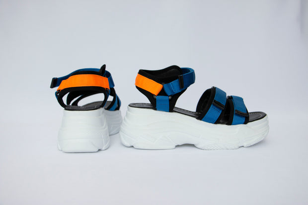 Chunky Velcro Strap Sandals - Berness