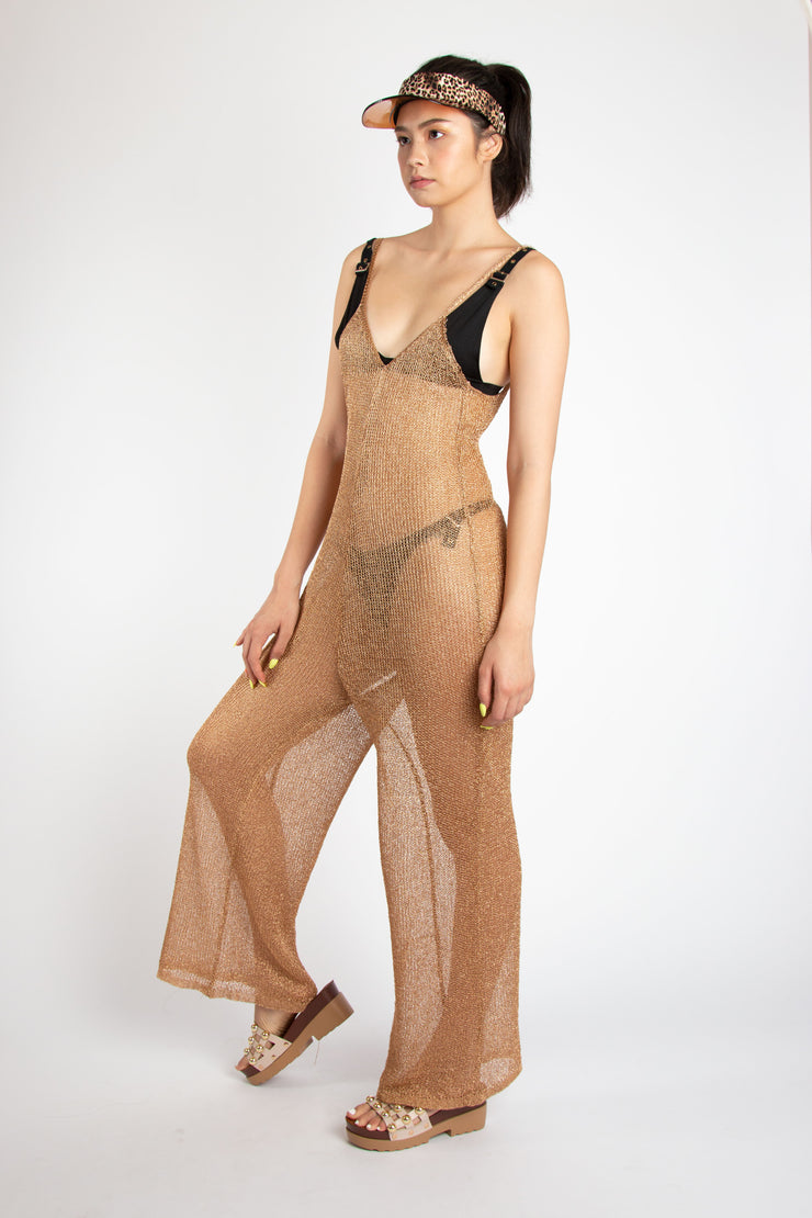 Metallic Beach Bodysuit chain - Berness