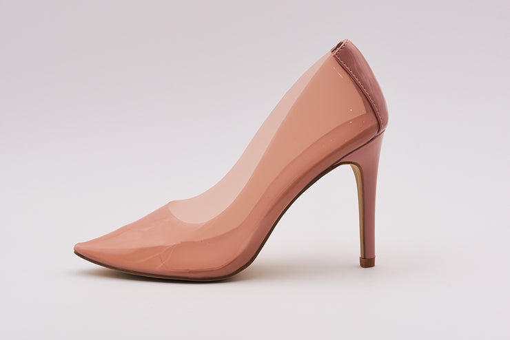 Perspex Court Heel In Pink - Berness