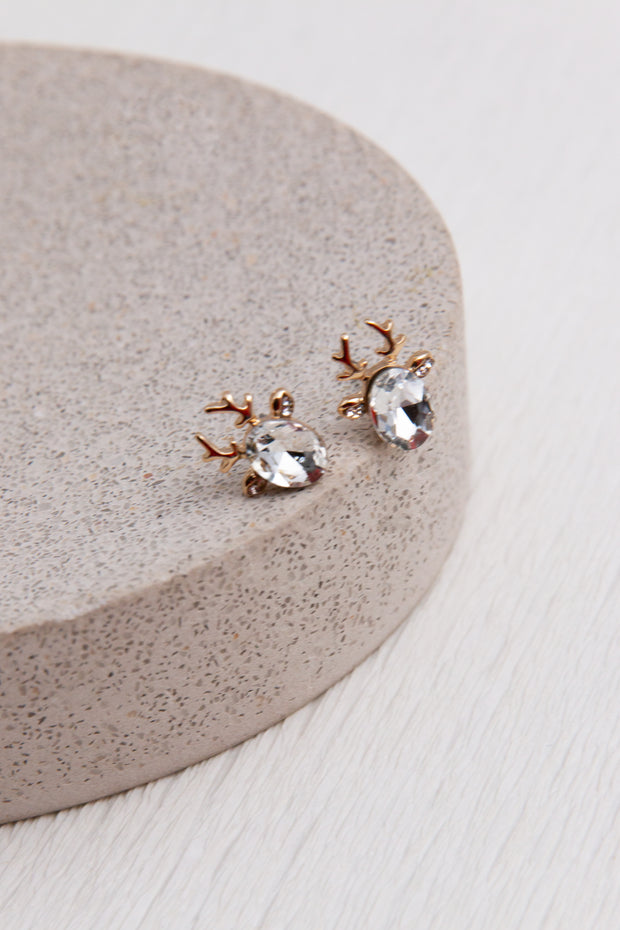 Reindeer Crystal Earrings - Berness