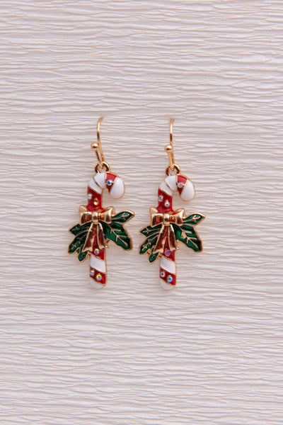 Candy Cane Earrings - Berness